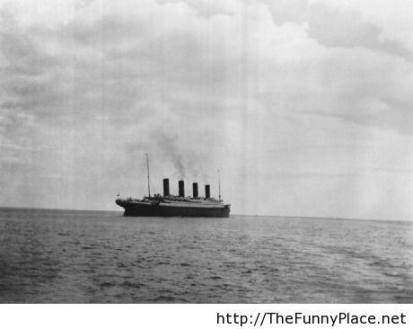The last picture o the Titanic