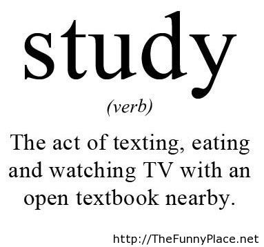 The meaning of study with saying