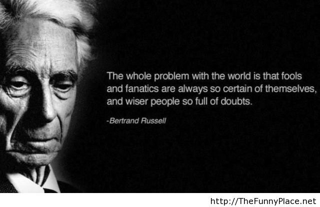 The whole problem with the world