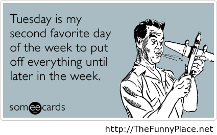 Tuesday funny day card