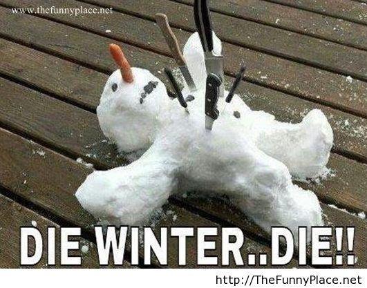 We hate winter