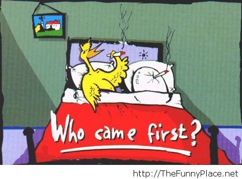 Who came first funny picture