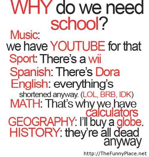 Why do we need school