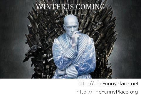 Winter is coming creepy wallpaper