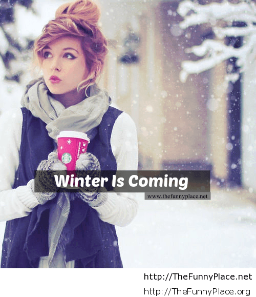 Winter is coming girl wallpaper