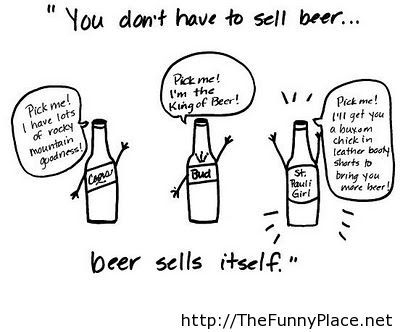 You don't have to sell beer