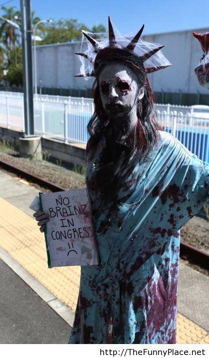 Zombie costume funny