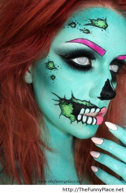 Cute zombie makeup