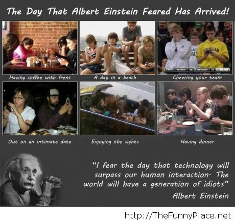 Albert Einstein afraid