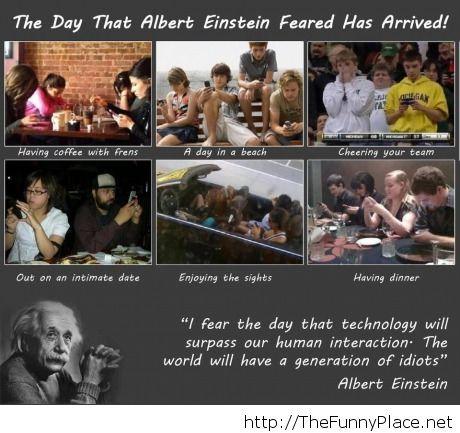 Albert Einstein afraid