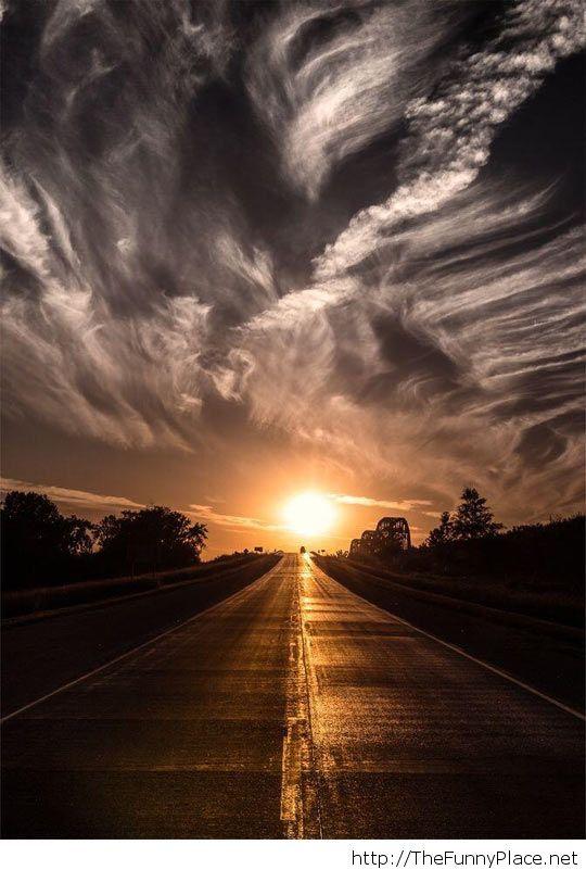 Awesome sunset photo