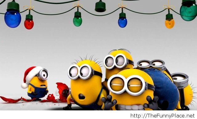 Chrismtas minions funny wallpaper