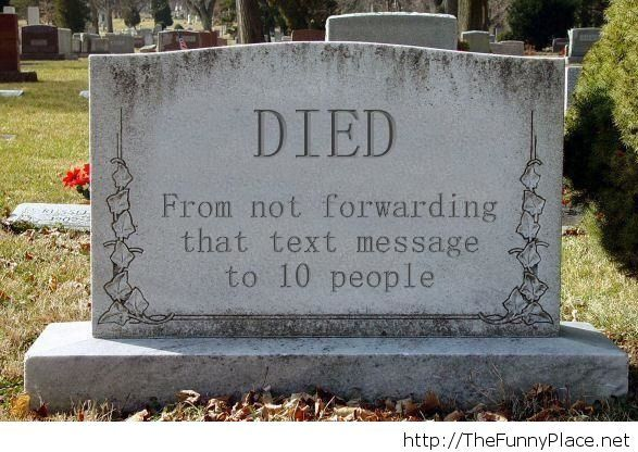 Died text message