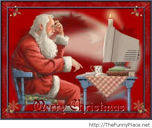Funny Christmas image with santa on facebook