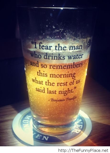 Funny beer quote