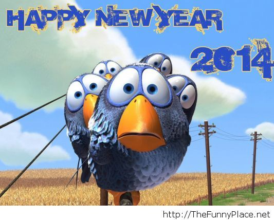 Funny happy new year wallpaper