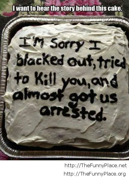 Funny idea birthday cake message TheFunnyPlace