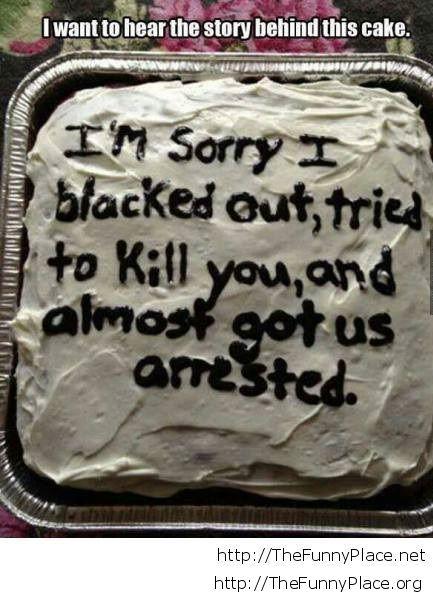 Funny idea birthday cake message