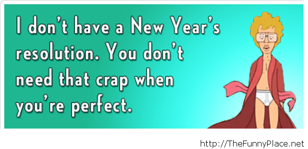 Funny new year resolutions with saying