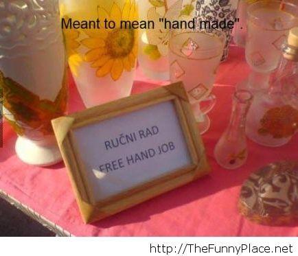 Hand made funny