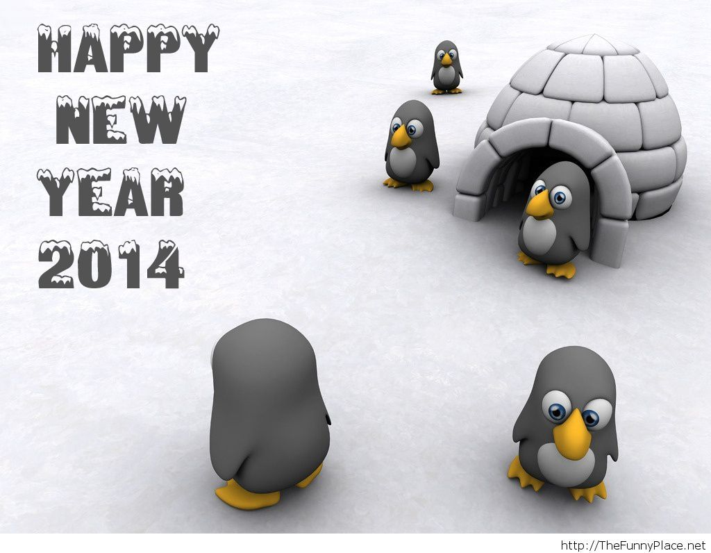 Happy new year 2014 cartoon