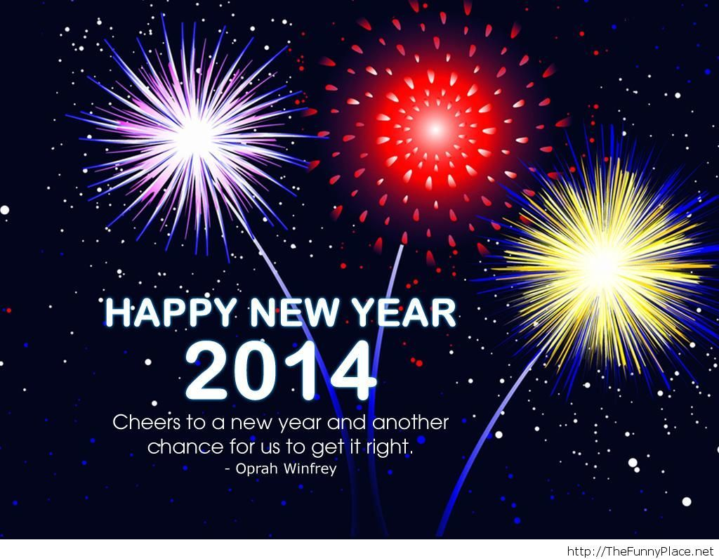 Happy new year 2014 image with quote