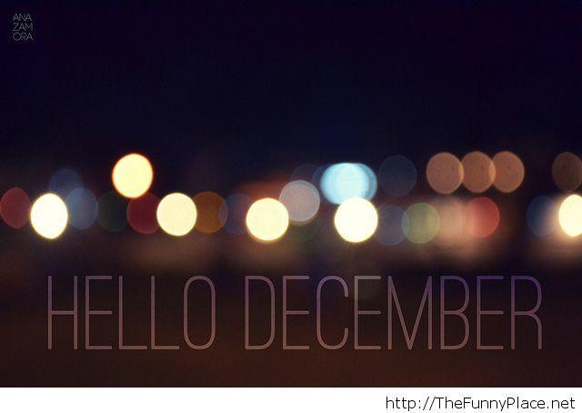 Hello december image