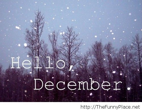 Hello december winter image
