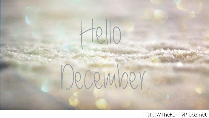 hello december wallpaper pic
