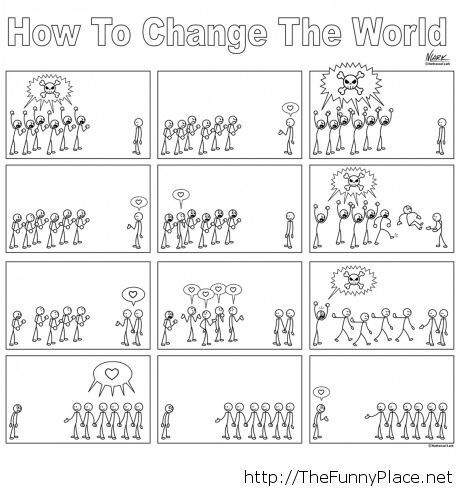 How to change the world comic