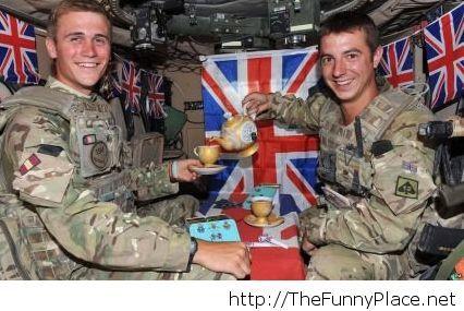 In a british tank
