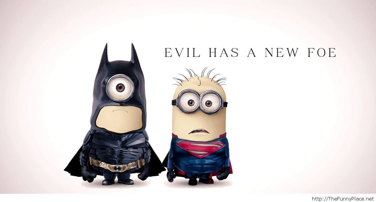 Minions batman and superman funny