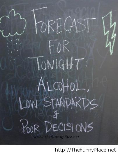 My night forecast saying
