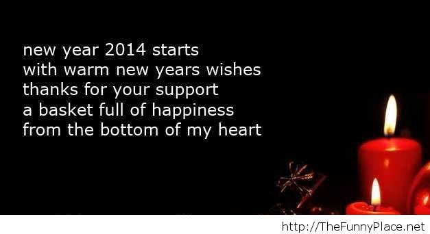 New year 2014 quote with image