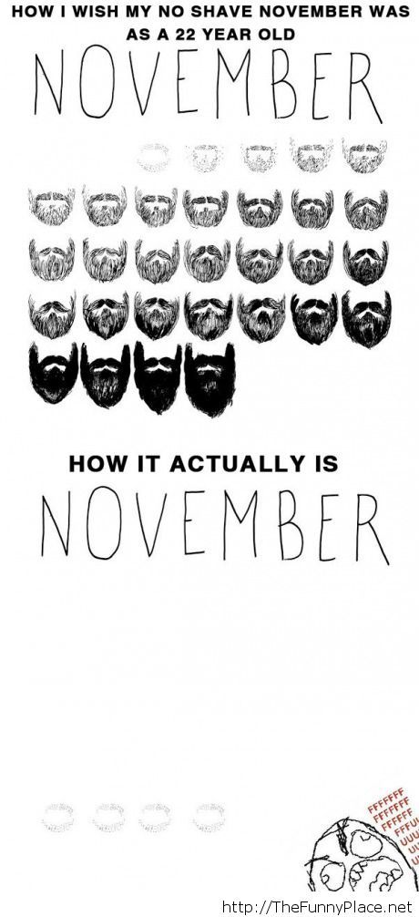 November growing beards expectation vs reality