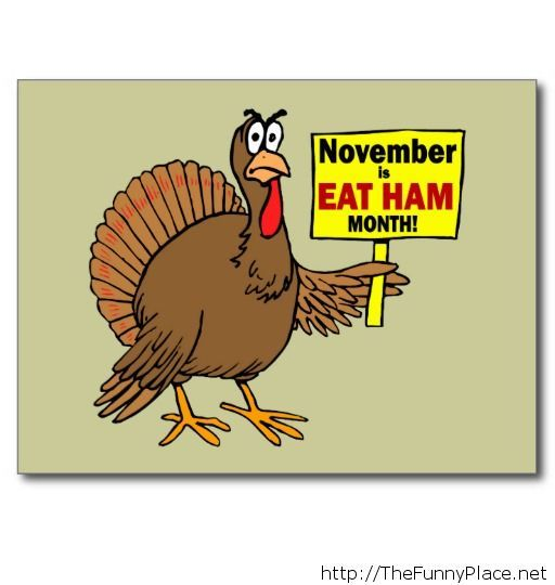 November is eat ham month!