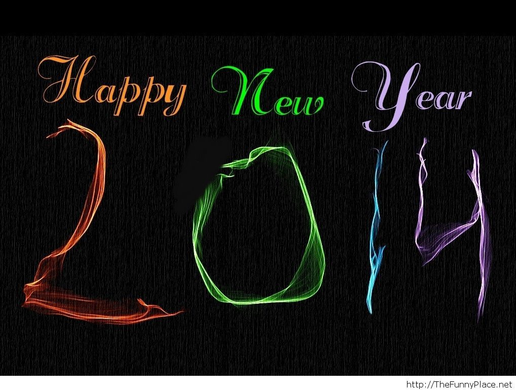 Simple happy new year 2014 wallpaper free