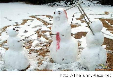 Snowman funny image