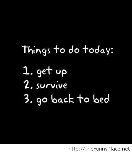 To do list for today
