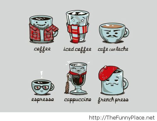 Types of coffee funny wallpaper