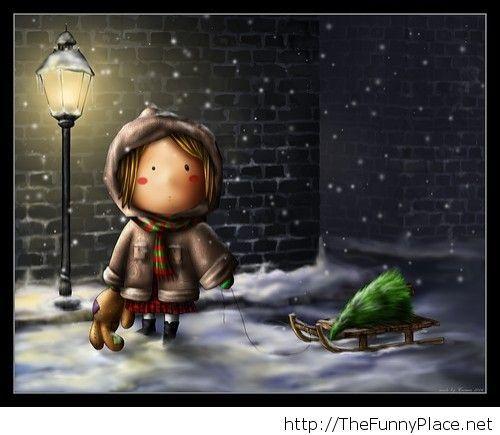 Winter amazing background