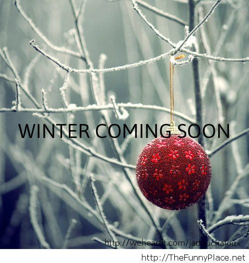 Winter is coming soon wallpaper