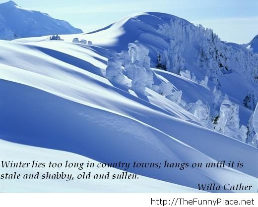 Winter quote with image