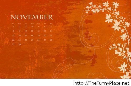 Hello November Wallpapers With Calendar Thefunnyplace
