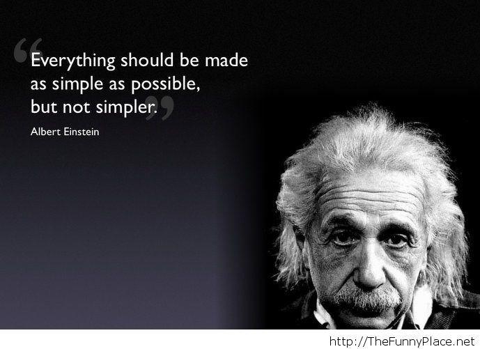 Albert Einstein quote with image