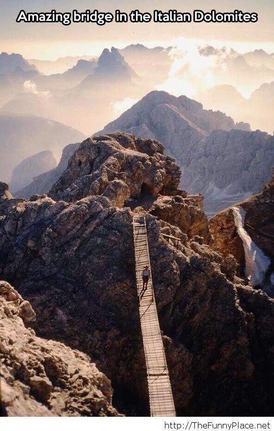Amazing mountain bridge