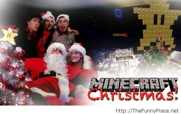 Awesome minecraft Christmas wallpaper