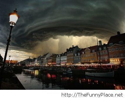 Bodil storm in Danmark