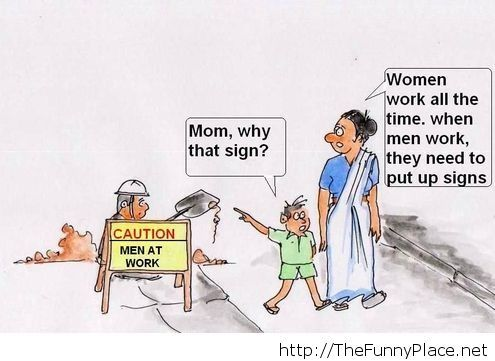 Caution men at work funny