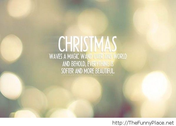 Christmas magic quote with wallpaper
